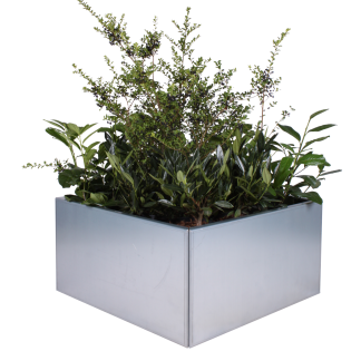 Land Modern 80 x 80 cm plantekumme i galvaniseret udgave