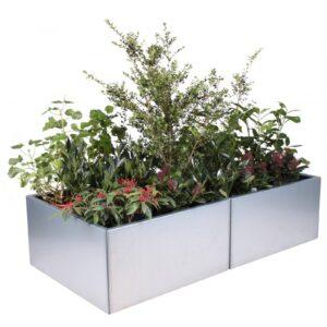 Land Modern 80 x 160 cm ekstra lang plantekumme i højgalvaniseret magnelis stål