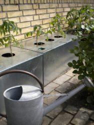 Land Højbed Plus kapilærkasse skjuler med låg i galvaniseret jern