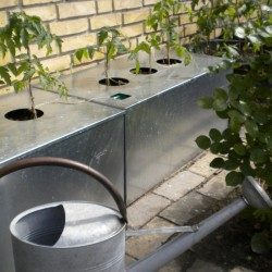 Kapilærkasser med skjuler og låg i galvaniseret jern