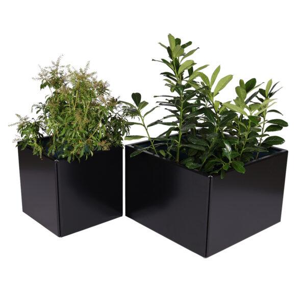 Land Black kvadratisk blomsterkasse eller højbed til krydderurterne fra Land Højbede