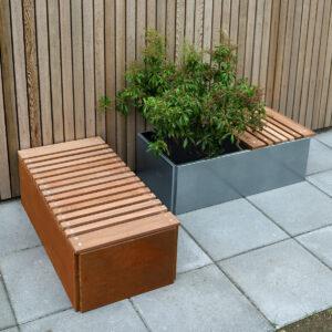 Land Classic 40x40 cm og 40x80 cm sæder i mahogni fra Land Højbede