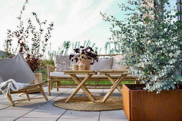 Land Classic højbed 60x60 cm rust fra Land Højbede på terrassen hos en_som_mig