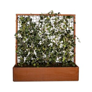 Land Classic plantekasse med espalier og skjulte fødder i rust fra Land Højbede