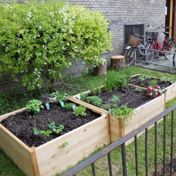 Højbede i lærketræ fra Land Højbede til urban gardening