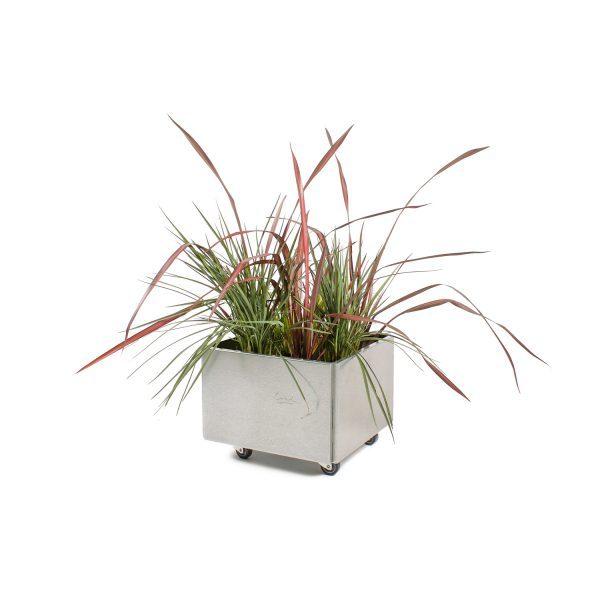 Land Classic mobil 40x40 cm plantekasse i galvaniseret fra Land Højbede