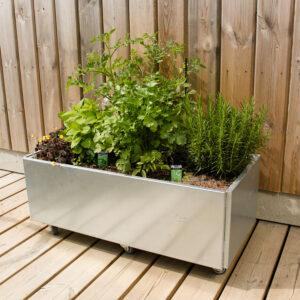 Land Classic mobil plantekasse med krydderhave ny bundplade fra Land Højbede