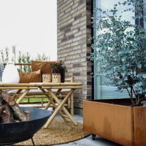 Land Classic mobilt højbed 60x60 cm rust fra Land Højbede på terrassen hos en_som_mig