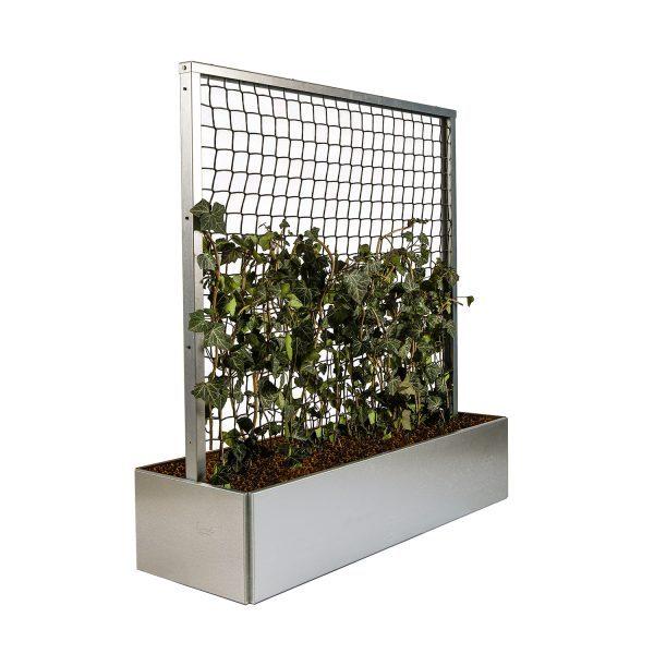 Land Classic plantekasse med espalier i galvaniseret fra Land Højbede