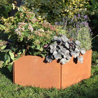 Sekskantet plantekasse fra Land Højbede, 40 cm rust
