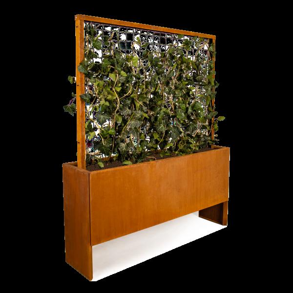 Land Modern Slim plantekasse i corten med espalier fra Land Højbede