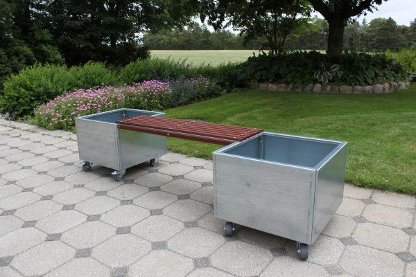 To mobile Land Modern 60 x 60 cm plantekummer med bænk