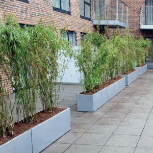 Ekstra lange plantekummer fra Land Højbede som rumdelere