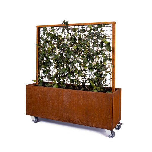 Land Modern plantekasse med espalier og hjul i rust fra Land Højbede