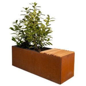 Land Modern plantekumme med sæde fra Land Højbede