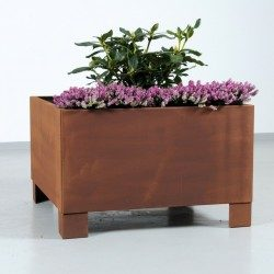 Solid plantekumme i jern, 60 x 60 cm