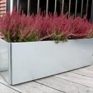 Land Classic galvaniseret altankasse med bundplade og skjulte fødder fra Land Højbede